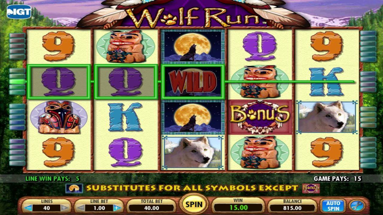 machine a sous wolf run